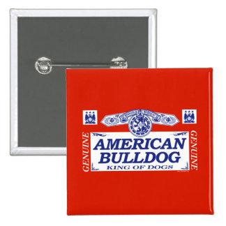 American Bulldog 2 Inch Square Button