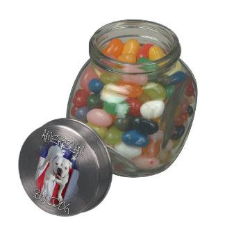 American Bulldog Glass Jar