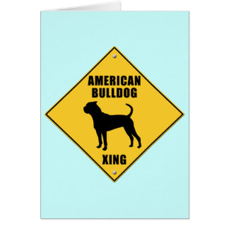 American Bulldog Crossing (XING) Sign Card