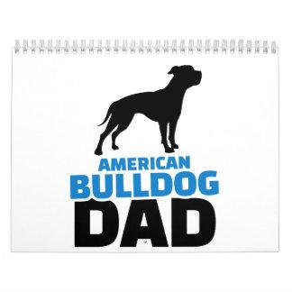 American Bulldog Dad Calendar