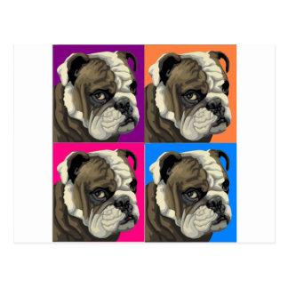 American Bulldog Does Pastel Postcard