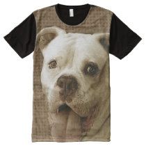 American Bulldog dog panel shirt