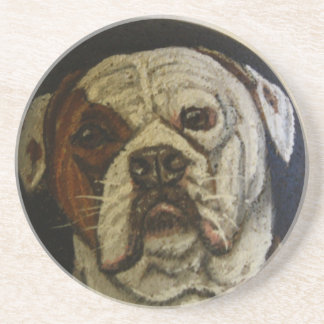 American Bulldog Drink Coaster
