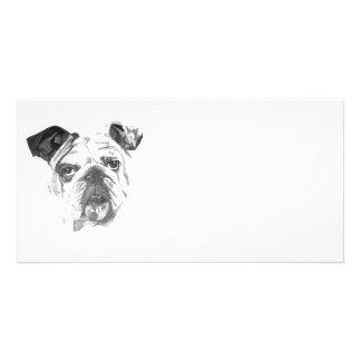 American Bulldog Greyscale Card