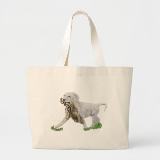 American Bulldog Large Tote Bag
