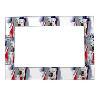 American Bulldog Magnetic Picture Frame