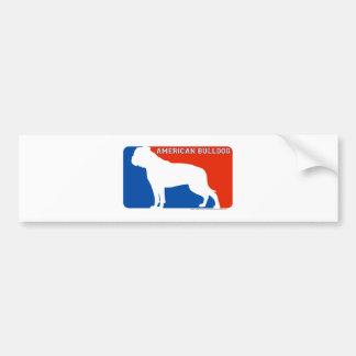 American Bulldog Major League Dog Bumper Sticker Car Bumper Sticker