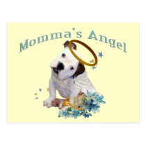 American Bulldog Momma's Angel Postcard
