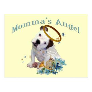 American Bulldog Momma's Angel Postcard