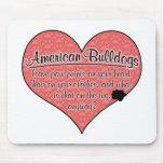 American Bulldog Paw Prints Dog Humor Mousepads