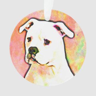American Bulldog Pop Art Portrait Ornament