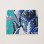 american bulldog pop dog art jigsaw puzzle