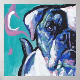 american bulldog pop dog art poster