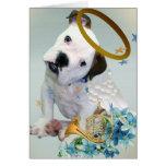 American Bulldog Puppy Angel Card