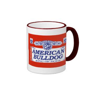 American Bulldog Ringer Coffee Mug