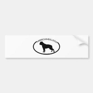 American Bulldog Silhouette Black Bumper Sticker