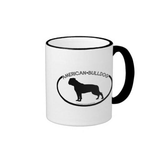 American Bulldog Silhouette Black Mug