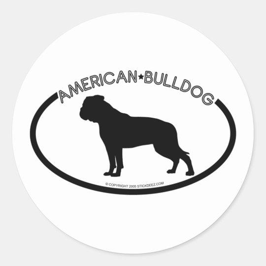 American Bulldog Silhouette Black Sticker