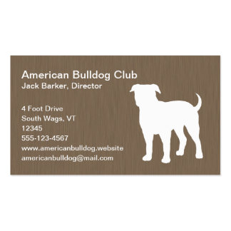 American Bulldog Silhouette Double-Sided Standard Business Cards (Pack Of 100)
