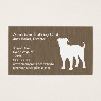 American Bulldog Silhouette Business Card