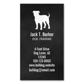 American Bulldog Silhouette Magnetic Business Card