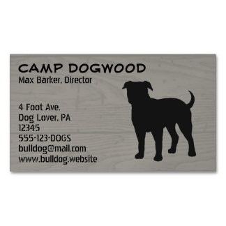 American Bulldog Silhouette Magnetic Business Cards (Pack Of 25)