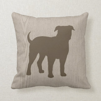 American Bulldog Silhouette Throw Pillow