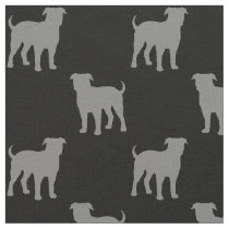 American Bulldog Silhouettes Pattern Fabric