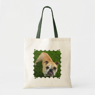 American Bulldog Small Cavas Tote Bag