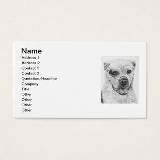 American Bulldog Smiling Business Card