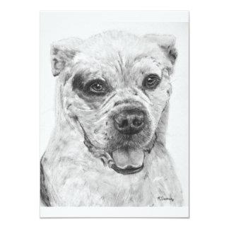 American Bulldog Smiling Card