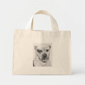 American Bulldog Smiling Mini Tote Bag