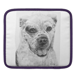 American Bulldog Smiling Sleeves For iPads
