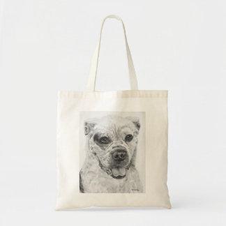 American Bulldog Smiling Tote Bag