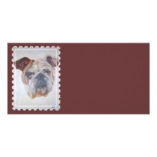 American Bulldog Stamp Motif Card