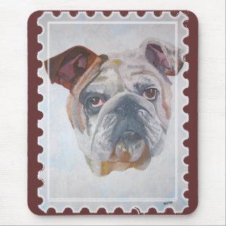 American Bulldog Stamp Motif Mousepad