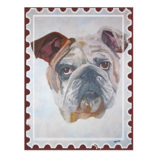 American Bulldog Stamp Motif Postcard