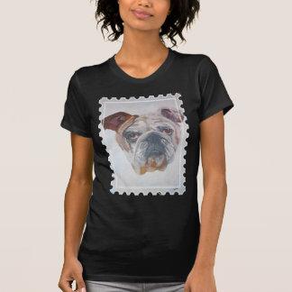 American Bulldog Stamp Motif T-shirt