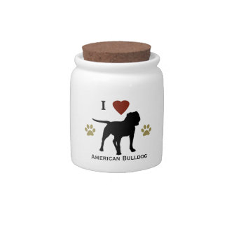 American Bulldog Treat Candy Jar