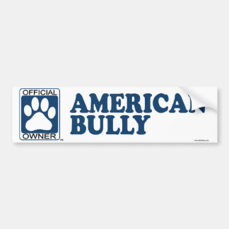 American Bully Blue Bumper Sticker