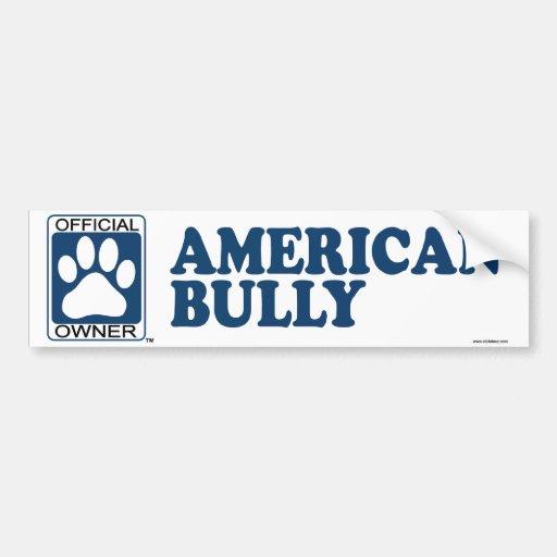 Zazzle American Bully Blue Bumper Sticker