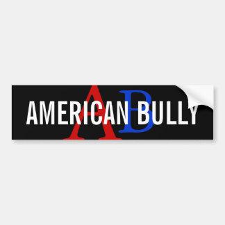 American Bully Breed Monogram Bumper Sticker