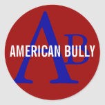 American Bully Breed Monogram Classic Round Sticker