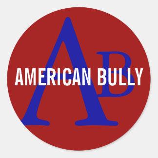 American Bully Breed Monogram Classic Round Sticker