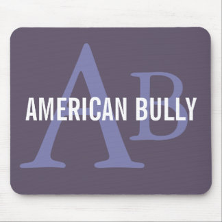 American Bully Breed Monogram Mouse Pad