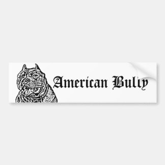 American Bully Dog bumper sticker