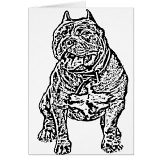 American Bully Dog Card