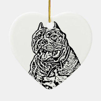 American Bully Dog Ceramic Ornament