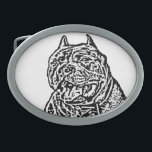 "American Bully dog Oval Belt Buckle<br><div class=""desc"">add text or upload your own image</div>"