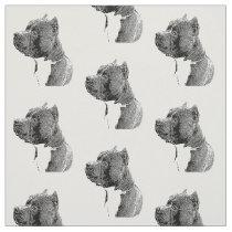 American bully dog pattern Fabric